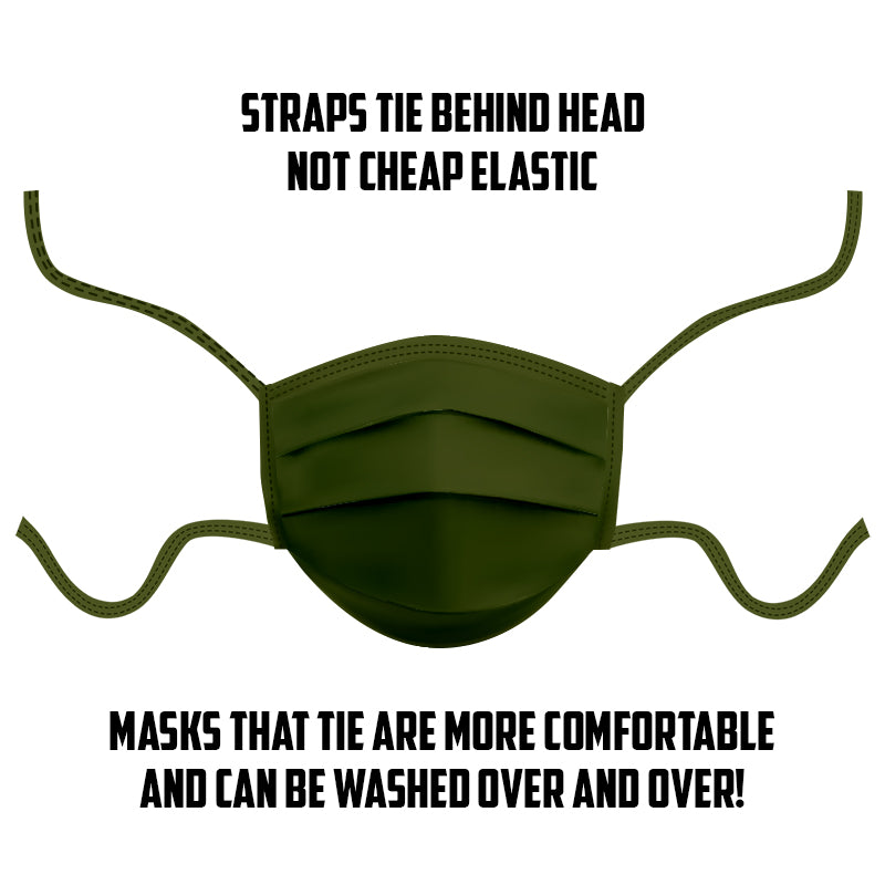 Military Green Face Mask