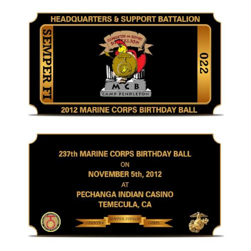 Marine Corps Ball Challenge Coin