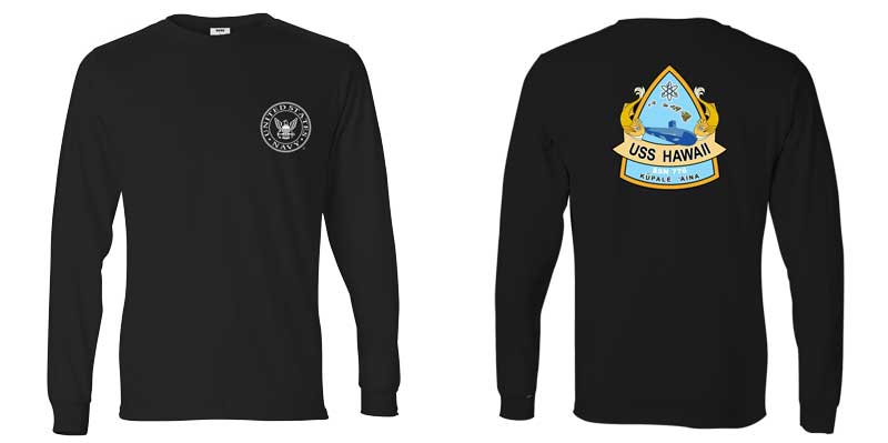 USS Hawaii Long Sleeve T-Shirt, SSN-776 t-shirt, SSN 776