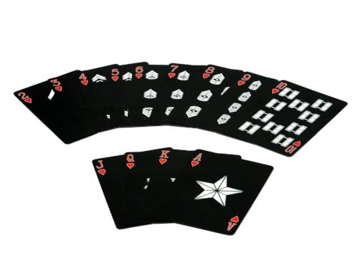USMC Black & Silver Marine Corps Playing Cards