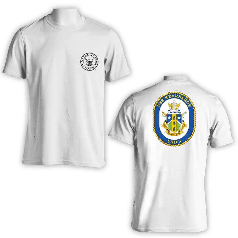USS Kearsarge T-Shirt, US Navy Apparel, US Navy Shirt, LHD 3, Amphib