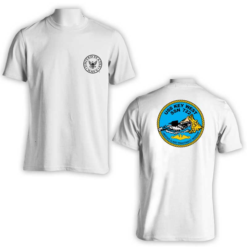 USS Key West T-Shirt, Submarine, SSN 722, SSN 722 T-Shirt, US Navy T-Shirt, US Navy Apparel