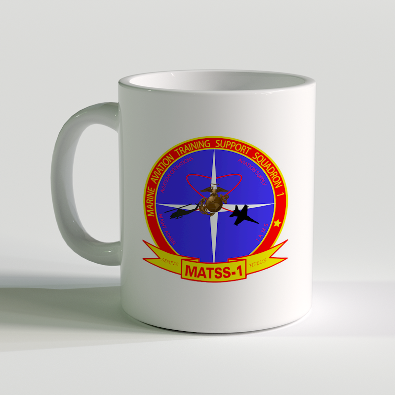 MATTS-1 unit coffee mug, Marine Aviation Training Support Squadron