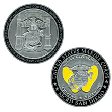 Marine Corps Recruit Depot San Diego Challenge Coin