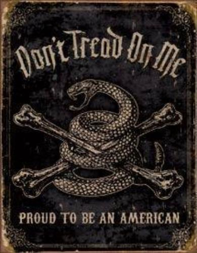 Metal Sign DTOM Proud to Be an American