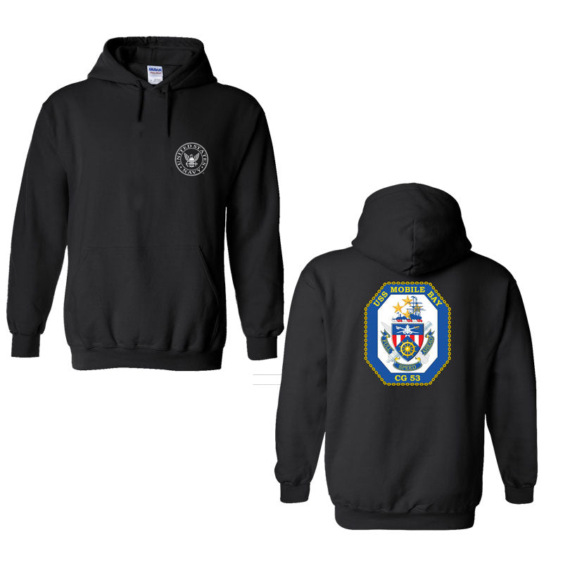 USS Mobile Bay Sweatshirt, USS Mobile Bay CG-53, USN Cg-53, CG-53