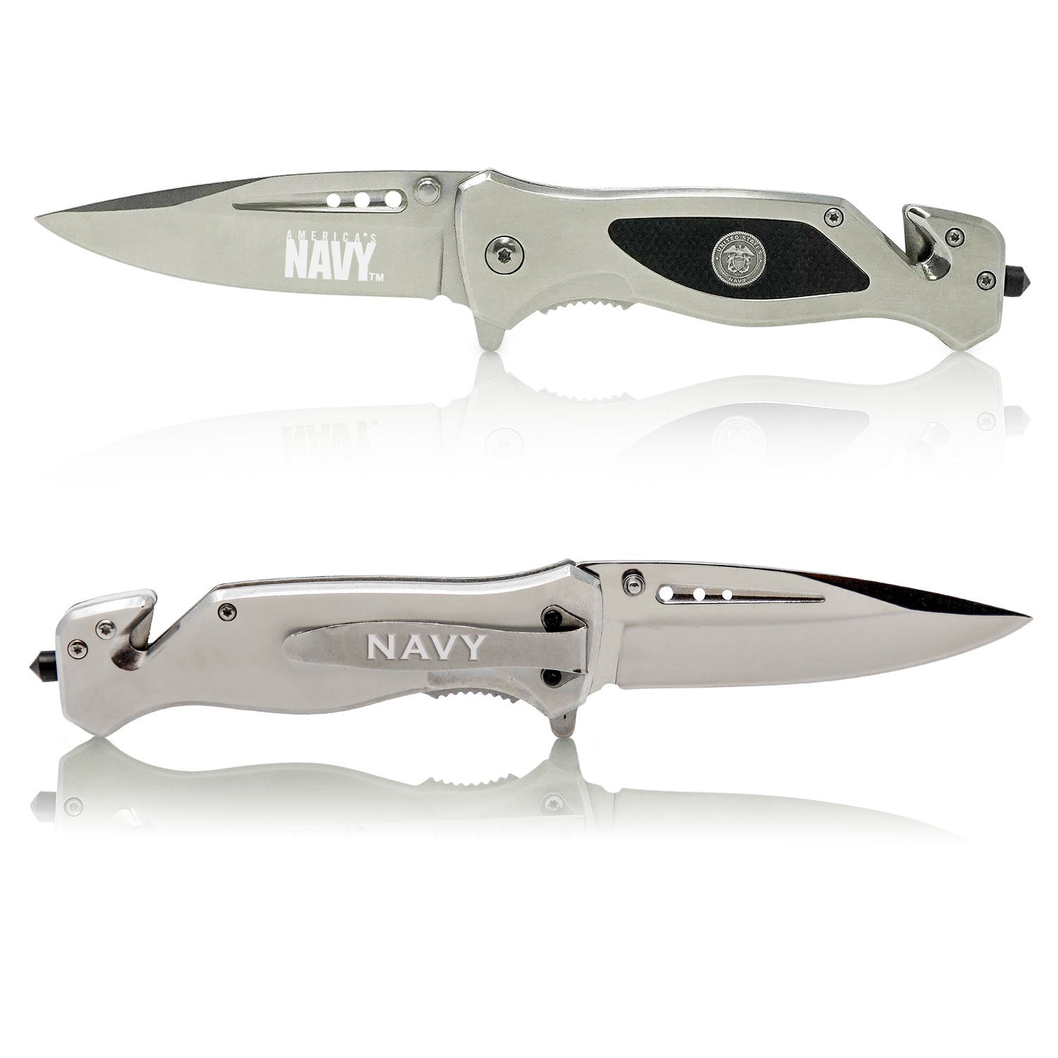 Navy Knife Front and Back