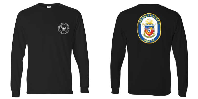 USS Oscar Austin Long Sleeve T-Shirt, DDG-79