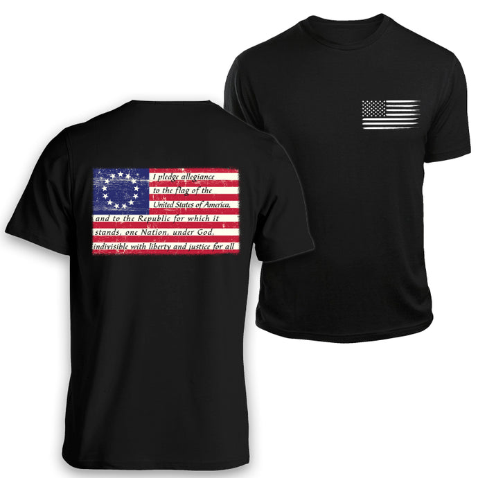 betsy ross pledge of allegiance t-shirt