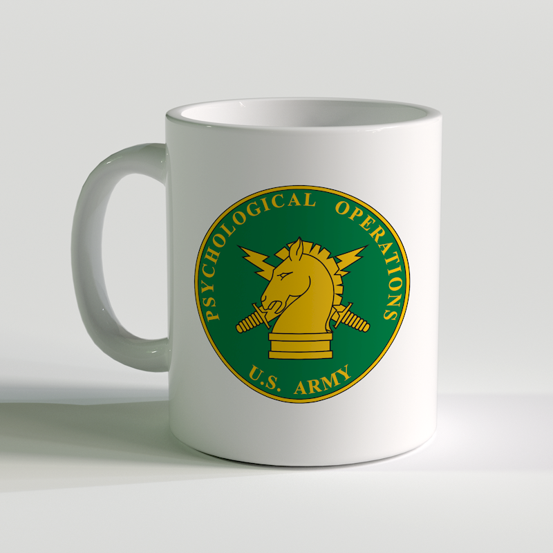 US Army Psychological Operations Coffee Mug, US Army Psychological Operations, US Army Psych Ops, US Army Coffee Mug