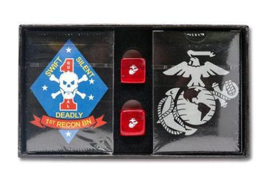 USMC Playing Cards Gift Set