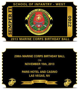 Marine Corps Ball Ticket Challenge Coin
