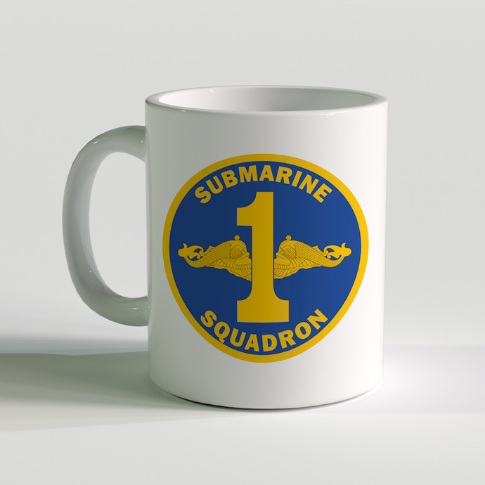 Submarine Squadron 1 Coffee Mug, US Navy Sub Squad 1