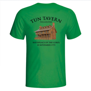 St. Patrick's Day Shirt Marines, Tun Tavern, Born in a bar, USMC tun tavern t-shirt