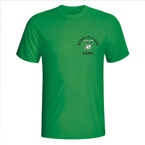 USMC St. Pattie's Day Shirt, Tun Tavern, Born in a bar, USMC tun tavern t-shirt