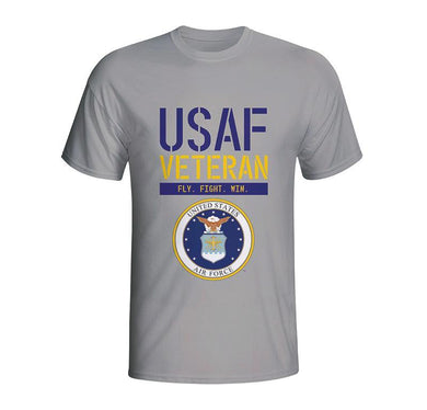 USAF Veteran T-Shirt, Grey Air Force T-Shirt, Fly Fight Win T-Shirt, USAF Aim High, United States Air Force