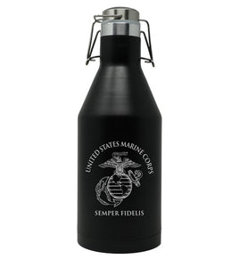 Marine Corps Beer Growler - 64oz Stainless Steel