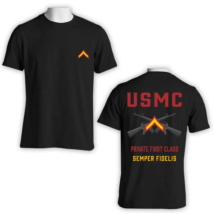 Private First Class T-Shirt, USMC Private First Class T-Shirt
