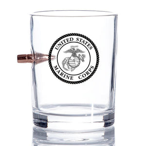 USMC Bullet Whiskey Glass