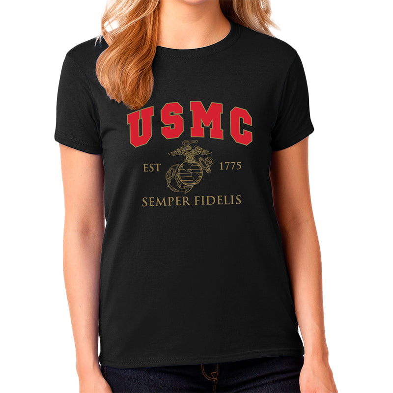 marine corps t shirts for women