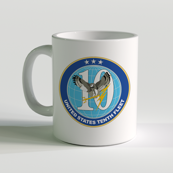 USN Tenth Fleet Coffee Mug, US Navy 10th Fleet