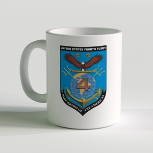 USN Fourth Fleet Coffee Mug, US Navy 4th Fleet