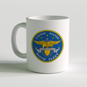 USN Sixth Fleet Coffee Mug, US Navy 6th Fleet