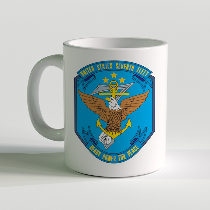 USN Seventh Fleet Coffee Mug, US Navy 6th Fleet