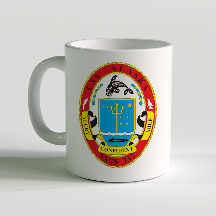 USS Alaska Coffee Mug, US Navy Sub Coffee Mug, SSBN-732