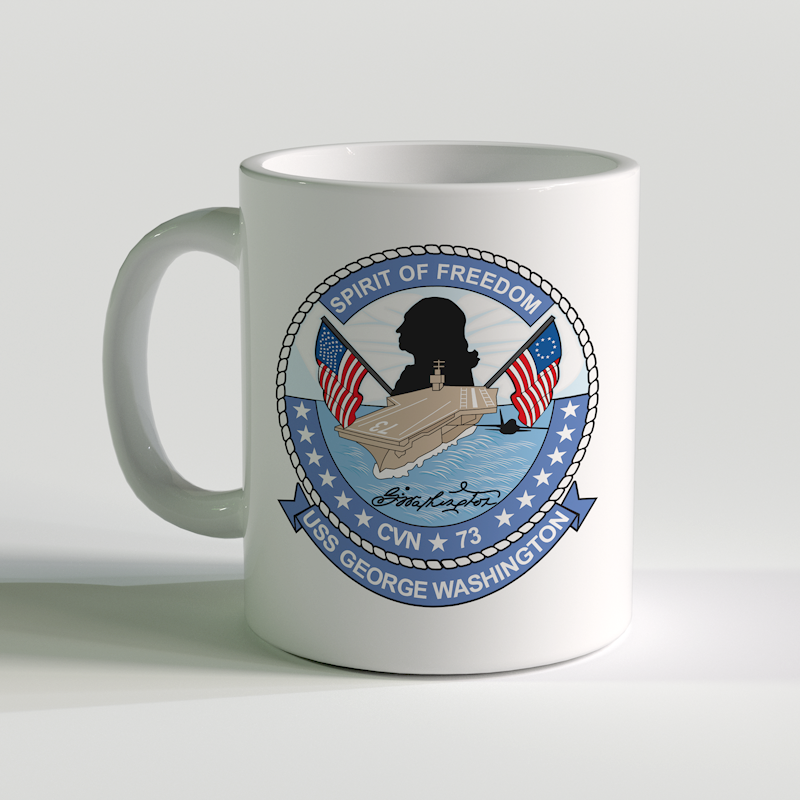 USS George Washington Coffee Mug, USS George Washington CVN-73, USN CVN 73, CVN-73