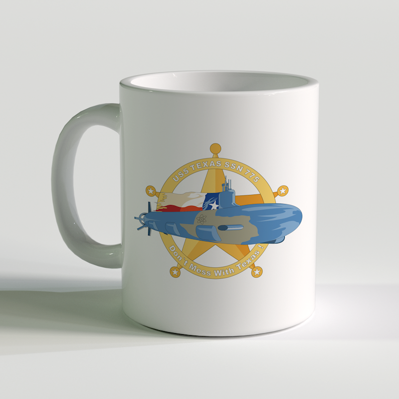 USS Texas Coffee Mug, USS Texas SSN 775, USN SSN 775