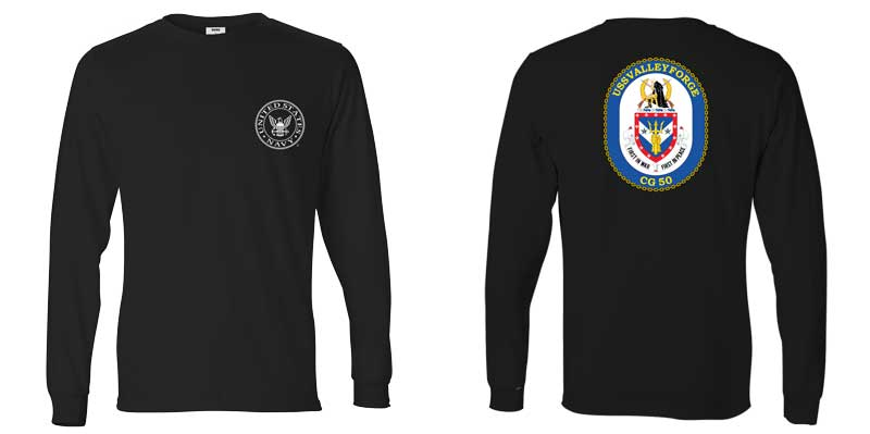 USS Valley Forge Long Sleeve T-Shirt, CG-50
