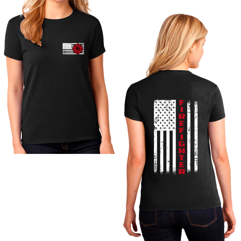 Ladie's first responder shirt, Firefighter, First Responder, Firefighter t-shirt, first responder apparel, firefighter apparel, firefighter first responder
