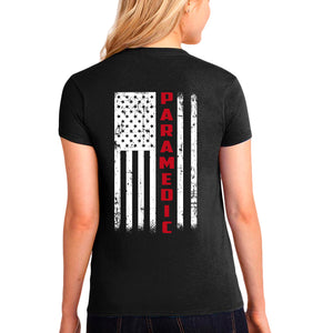 Ladies' Paramedic T-Shirt - First Responder Shirt for Women