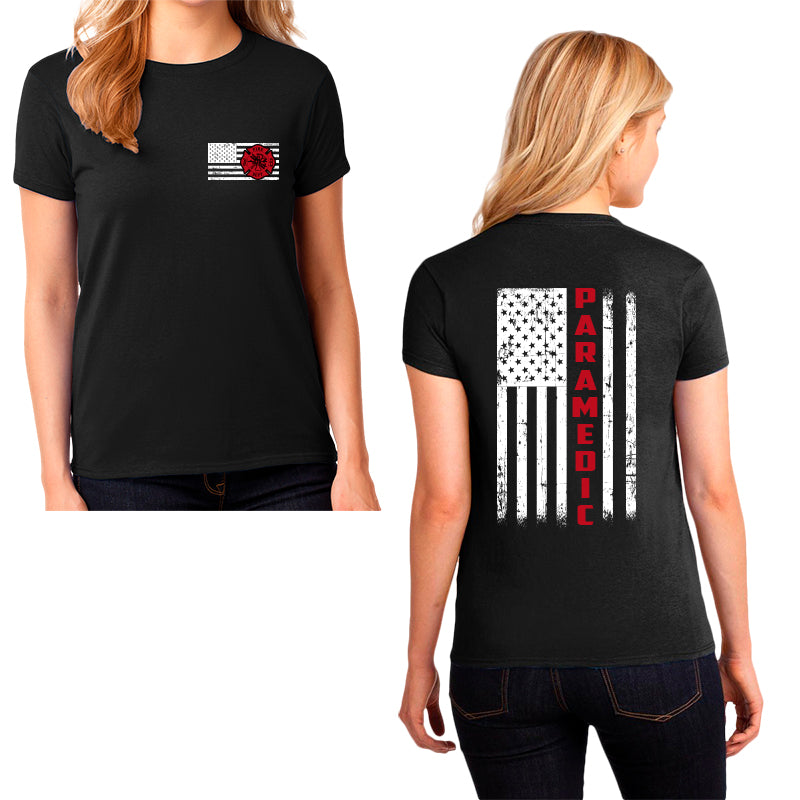 Ladie's Paramedic T-Shirt - First Responder Shirt for Women