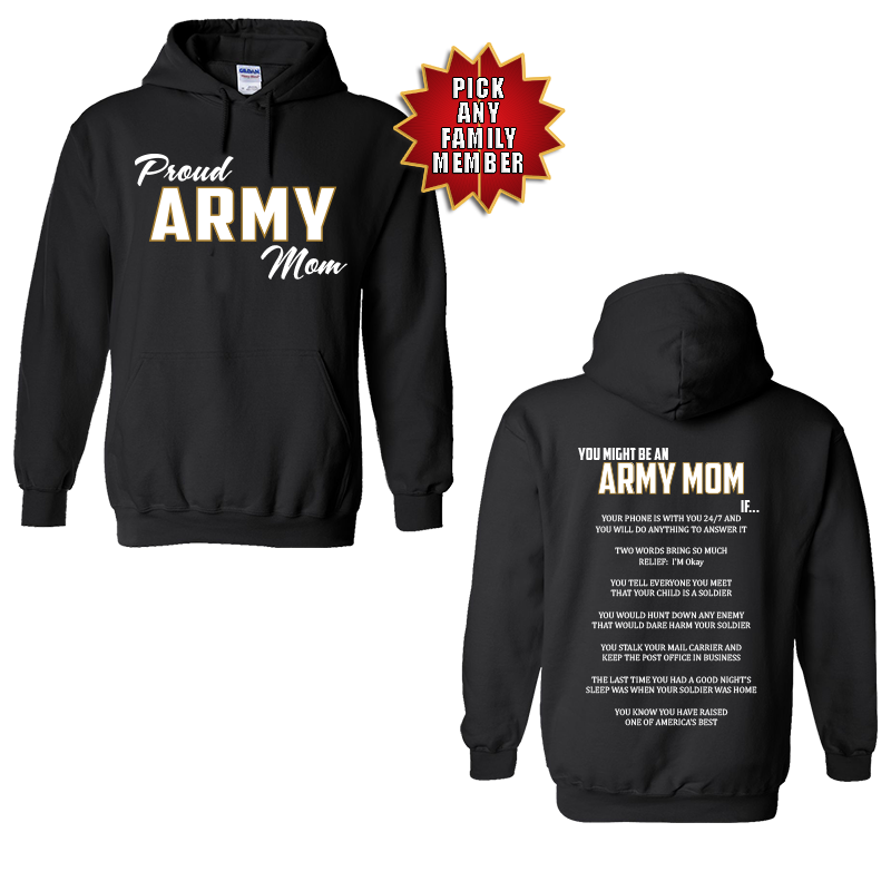 You Might Be an Army Family If – Army Graduation Hoodie
