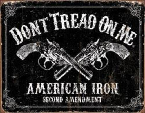 American Iron Metal Sign