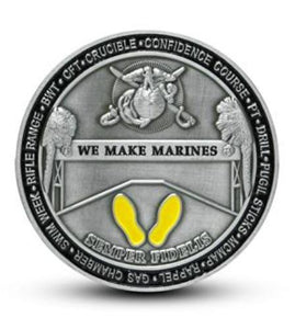We Make Marines Challenge Coin Marine Corps Recruit Depot Parris Island