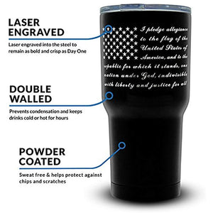 30oz Pledge of Allegiance Insulated Stainless Steel Tumbler - BLOWOUT!
