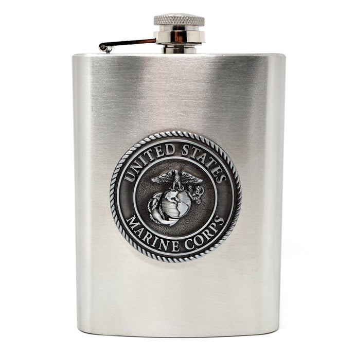 Stainless Steel Marine Corps Flask