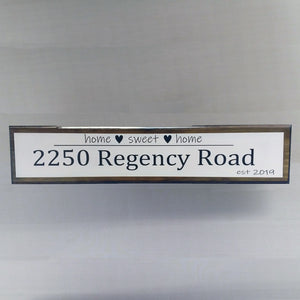 Custom Made Address Sign,Housewarming Gift,Realtor Gift,Personalized Wood Sign,First Home Gift,New House Gift,Home
