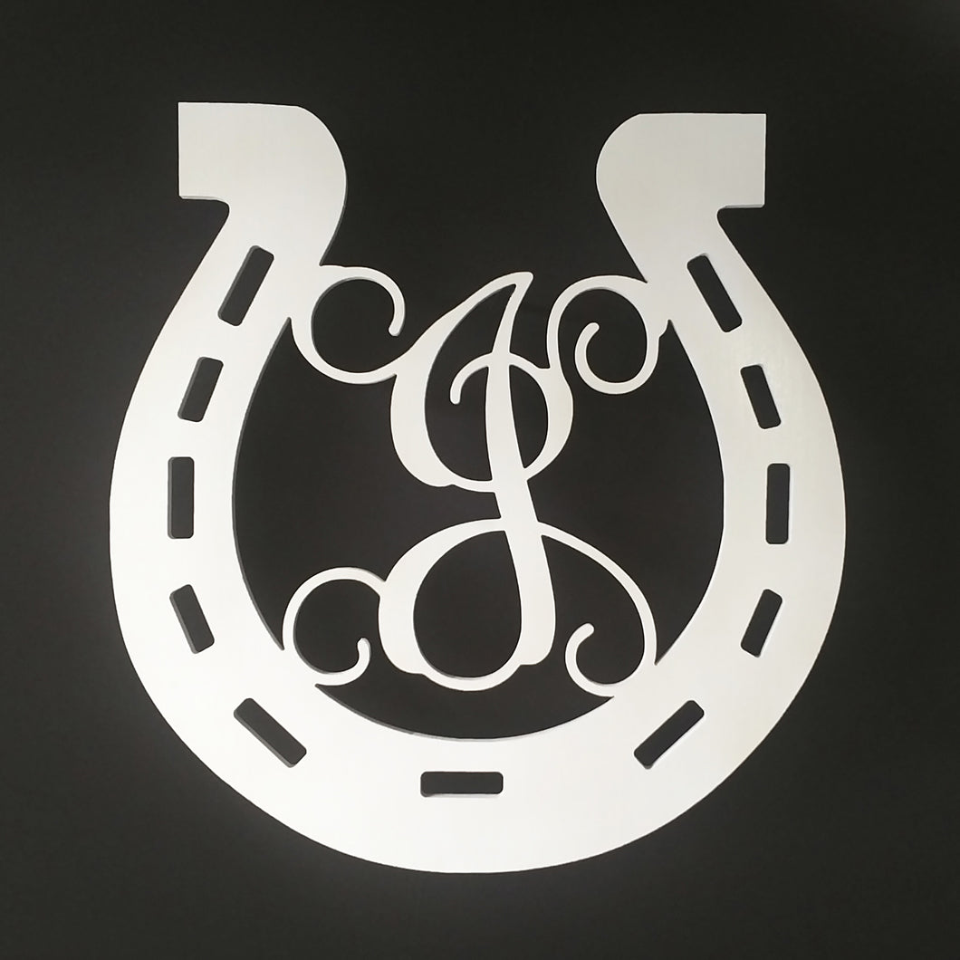 Horseshoe Monogram for Front Door or Wall