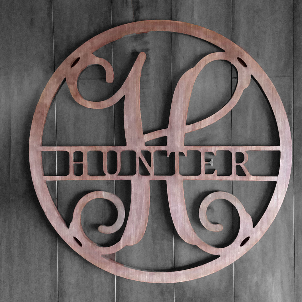 Monogram Sign for Doors, Walls & Wedding Decor - 23