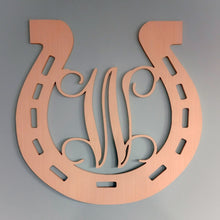 Load image into Gallery viewer, Horseshoe Monogram for Front Door or Wall