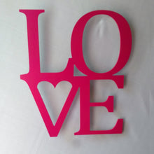 Load image into Gallery viewer, LOVE cutout wall sign for Valentine's Day