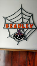 Load image into Gallery viewer, Cute Spider in Web for Halloween Door Decor