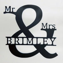 Load image into Gallery viewer, Mr & Mrs Wedding Sign or Reception - Ampersand Sign