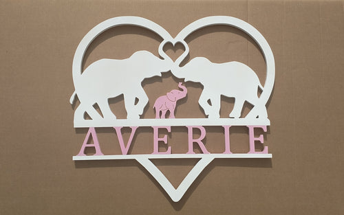 Safari Nursery Decor / Custom Elephant Nursery Door Hanging