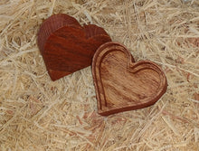 Load image into Gallery viewer, Heart shaped wooden box - stained red - Valentine's day