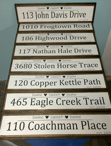 Personalized Family Address Sign